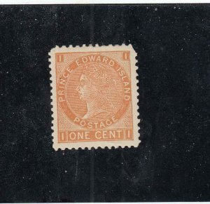 PRINCE EDWARD ISLAND # 11  VF-MH 1cts  QUEEN VICTORIA / BROWN ORANGE CAT VAL $10