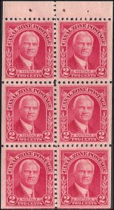 Canal Zone 106a Mint,OG,LH... Booklet Pane... SCV $15.00