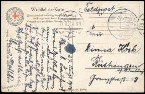 Germany 1915 WWI Navy Submarine UBoot MSP77 Feldpost Cover Kaiser Wilhelm  82962