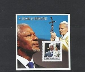 O) 2003 SAO TOME AND PRINCIPE, POPE JOHN PAUL II,KOFI ANNAN- SECRETARY GENERAL O