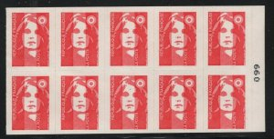 France 1992 25F Marianne Booklet Sc# 2347a NH