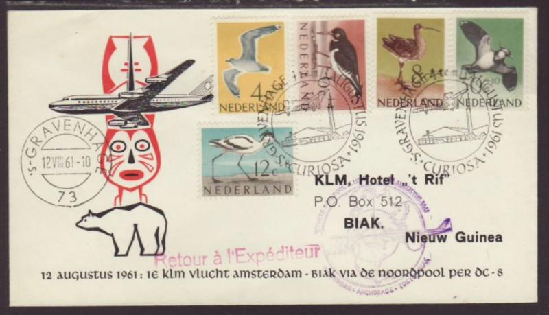KLM Amsterdam to Biak,New Guinea 1961 First Flight Cover