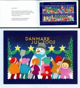 Denmark. Christmas Seals 2002 Souvenir Folder. Children With Santa.