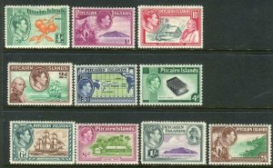 PITCAIRN ISLANDS-1940-51  A mounted mint set to 2/6 Sg 1-8