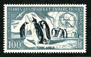 Fascinating FSAT Emperor Penguins Issue (Scott C2) VF MNH Cat $35