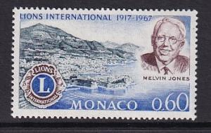 Monaco  #665   MNH  1967  Lions International