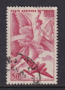 France  #C19  used  1946  plane  Iris  50fr