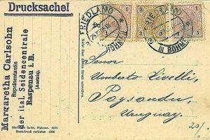 11945 - Czechoslovakia  - POSTAL HISTORY -   CARD TO URUGUAY 1912