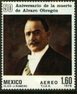 MEXICO C573, 50th Anniv of death of Pres Alvaro Obregon. MINT, NH. F-VF.