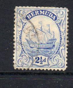 BERMUDA #87  1932  2 1/2p CARAVEL    F-VF USED  c