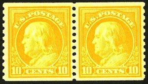 U.S. #497 MINT PAIR OG NH