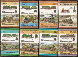 St. Vincent Gr. Bequia 1985 Locomotive Railway Train Transport Imperf MNH # 151