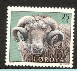 #42  - Faroe Islands stamp  -  MNH  -  VF - superfleas