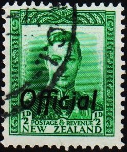 New Zealand. 1938 1/2d(Official) S.G.O134  Fine Used