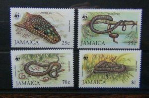 Jamaica 1984 Endangered Species Jamaican Boa Snake set MNH