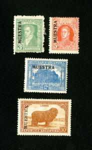 Argentina Stamps VF OG LH + NH 5 Different Specimen