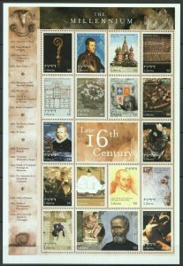 EC102 LIBERIA MILLENNIUM 2000 LATE 16TH CENTURY 1SH MNH