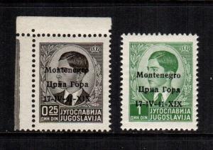 Montenegro  2n1 - 2n2  MNH cat $ 7.00