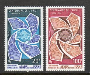 Afars & Issas #374-375 UPU Mint Never Hinged  E781