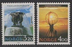 NORWAY SG1092/3 1991 TOURISM MNH