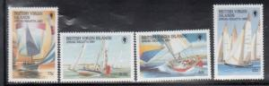 British Virgin Islands 631-4 Sailing Mint NH