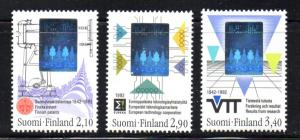 Finland Sc 886-8 1992 Technology Hologram stamp set mint NH