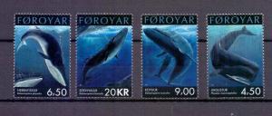 Faroe Islands 2001 MNH Whales complete