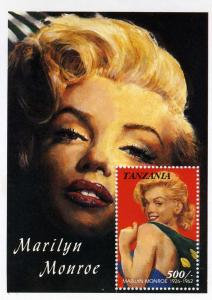 Tanzania MARILYN MONROE s/s Perforated Mint (NH)