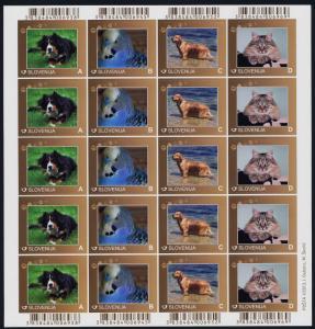 Slovenia 990-1005 Sheets MNH Animals, Dogs, Birds, Cats, Goat, Rabbit