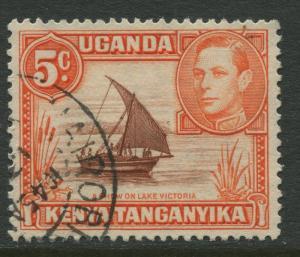 Kenya & Uganda - Scott 68 - KGVI Definitive -1949 - Used - Single 5c Stamp