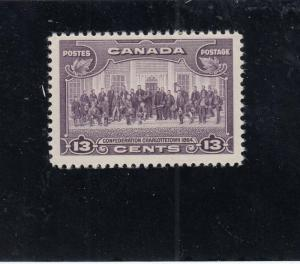CANADA # 224 VF-MNH 13cts 1935 CHARLOTTETOWN/ VIOLET CAT VALUE $19