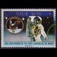 NIUE 1989 - Scott# 571a Moon Landing $1.5 NH