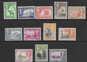 Gold Coast 130 - 141  1948 set 12  VF LH