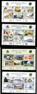 Tristan da Cunha-Sc#787-90-four Unused NH sheets-Discovery of island-Ships-2006-