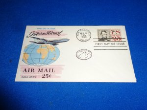 FLEUGEL MULTI COLORED CACHET FDC:  US SCOTT# C59