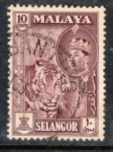 Malaya Selangor 1961 Sc 119 10c Used