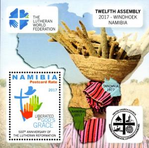 Namibia - 2017 500th Anniversary of Lutheran Reformation MS MNH**