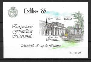 Spain 2452 MNH S/S El Prado Museum Exfilna 1985
