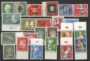 Germany - Saar 1957-59 lot Unused/CTO VG/F - Various CTO issues lot