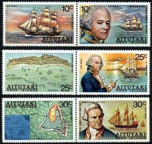 AITUTAKI - 1974 - COOK - RESOLUTION - BLIGH - BOUNTY - SHIP 6 X MINT AIRS SET!