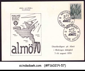 SWEDEN - 1970 MALMO SCOUT DISTR. ALMO70 SPECIAL CARD WITH SP. CANCL.