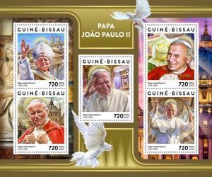 GUINEA BISSAU 2017 SHEET POPE JOHN PAUL II PAPE JEAN PAUL POPES RELIGION