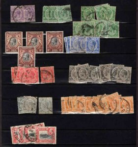 BRITISH KUT PACKED COLLECTION LOT 58 STAMPS GEORGE V HIDDEN VALUE