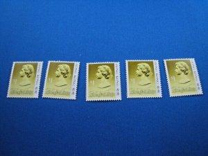 HONG KONG  -  SCOTT # 497  -  DEALERS LOT OF 5     MNH