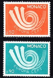 Monaco Scott 866-867  complete set  VF mint OG NH.