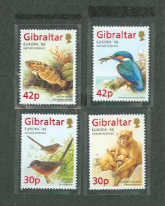 Gibraltar MNH 794-7 Wildlife 1999 SCV 7.20