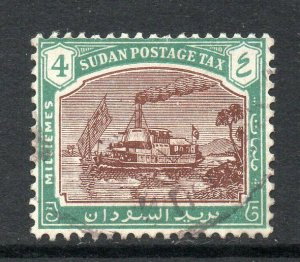 South Sudan 1948 KGVI Postage Due 4m Gunboat wmk multi SG, SG D13 used