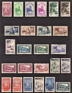 French Morocco Scott 149-51, 153-57, 159A, 160A-61, 163-64, 165A, 167-68...172B