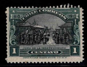 Chile Scott 83 MH* 1910 stamp with patchy dried gum