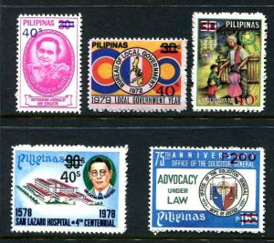 Philippines 1479-1483,MNH. New value 1980.Justice, Fight against drug,Christmas,